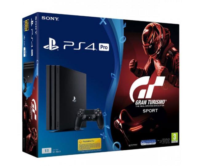 Sony Playstation 4 Pro 1000gb + Игра Gran Turismo Sport (Гарантия 18 месяцев)