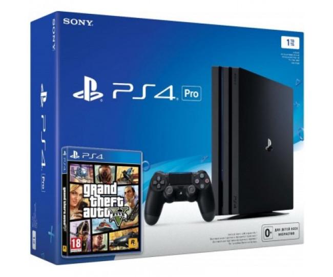 Sony Playstation 4 Pro 1000gb + Игра GTA 5 (Гарантия 18 месяцев)