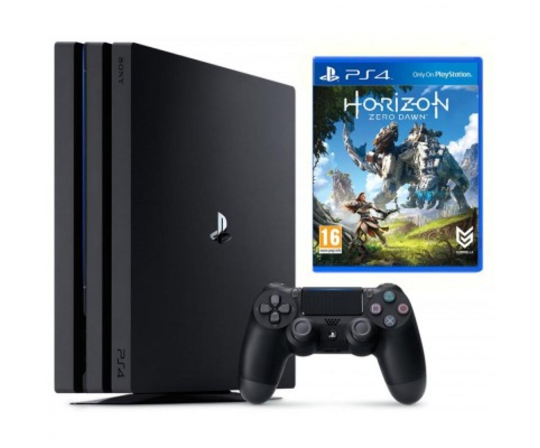 Sony Playstation 4 Pro 1000gb + Игра Horizon Zero Dawn (Гарантия 18 месяцев)