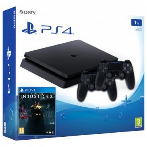 Sony Playstation 4 Slim 1000gb + Доп Джойстик + Игра Injustice 2