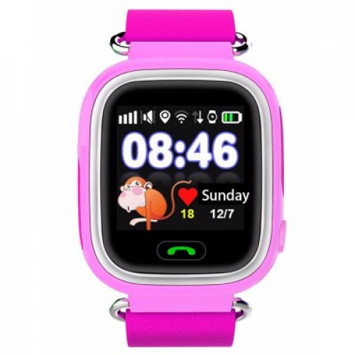 Детские смарт часы Owly Smart Baby Watch Q90 Pink