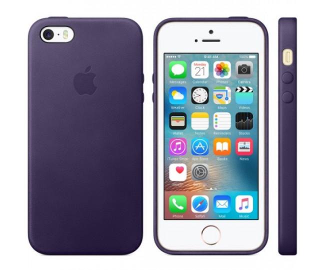 Чехол Leather Case для iPhone 5/5s/SE Lavander