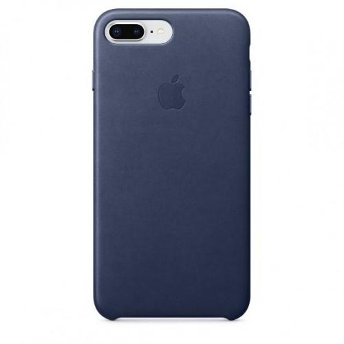 Оригинальный чехол Apple Leather Case для iPhone 8 Plus/7 Plus Midnight Blue (MQHL2)