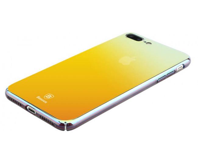 Чехол Baseus Glass Case для iPhone 7 Plus Stream Gold