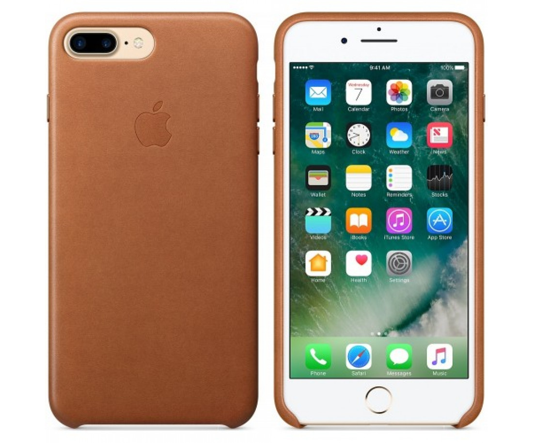 Чехол Apple iPhone 7 Plus Leather Case - Saddle Brown (MMYF2)