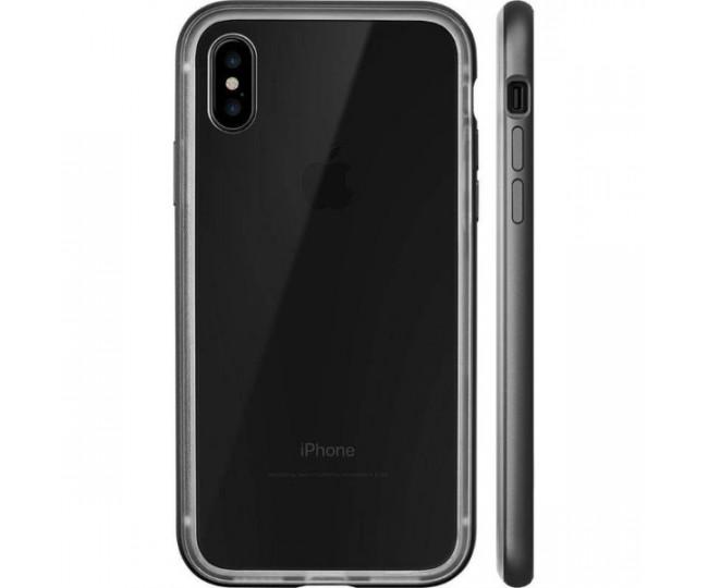 Чехол-бампер LAUT EXO-FRAME Aluminium для iPhone X Mate Black (LAUT_iP8_EXI_GM)