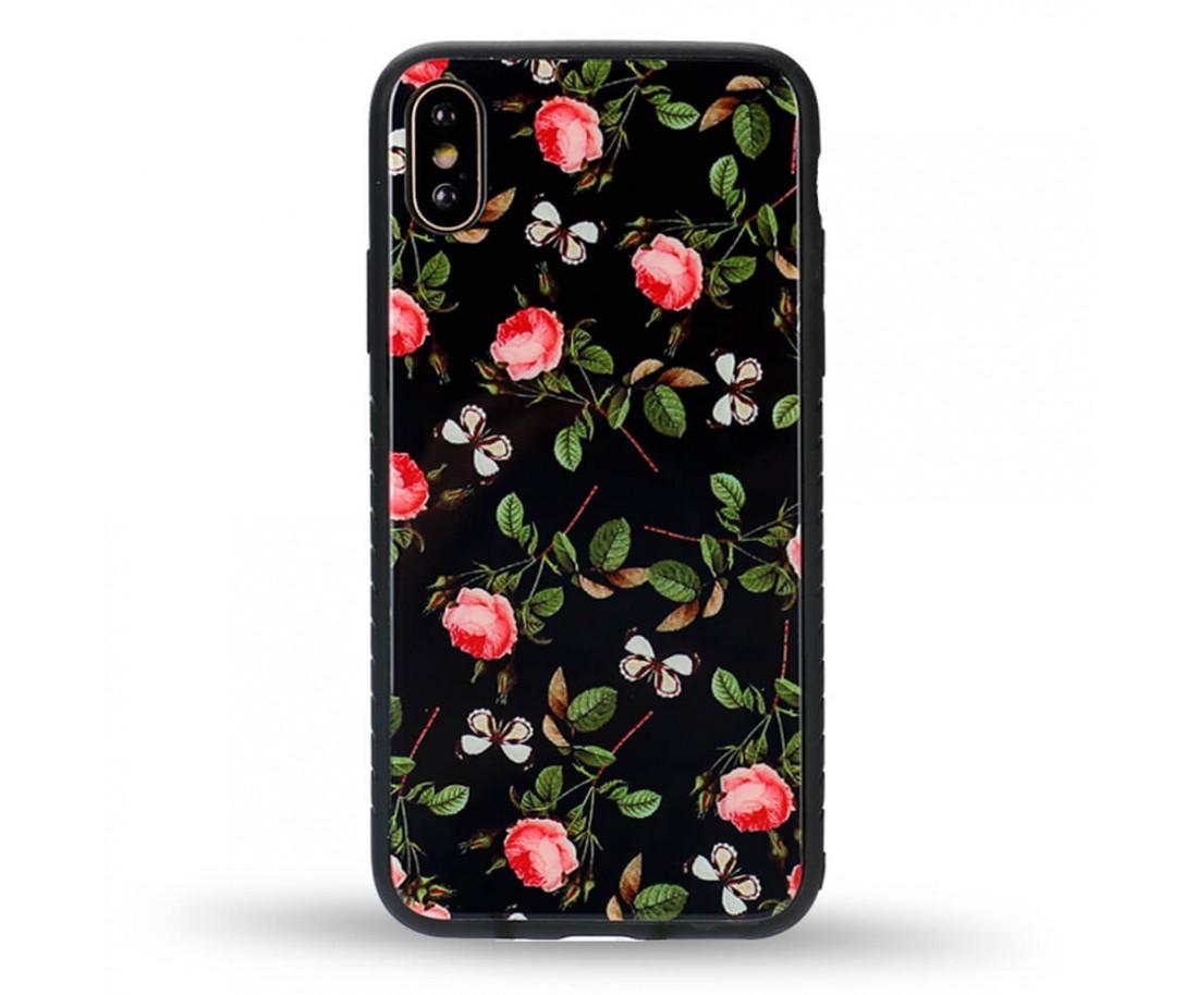 Чехол WK Design Glass LL02 Rose для iPhone X
