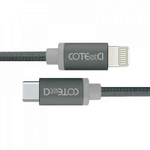 Кабель Lightning COTEetCI M38 Type-C to Lightning Cable 1.2m Black (CS2151-BK)