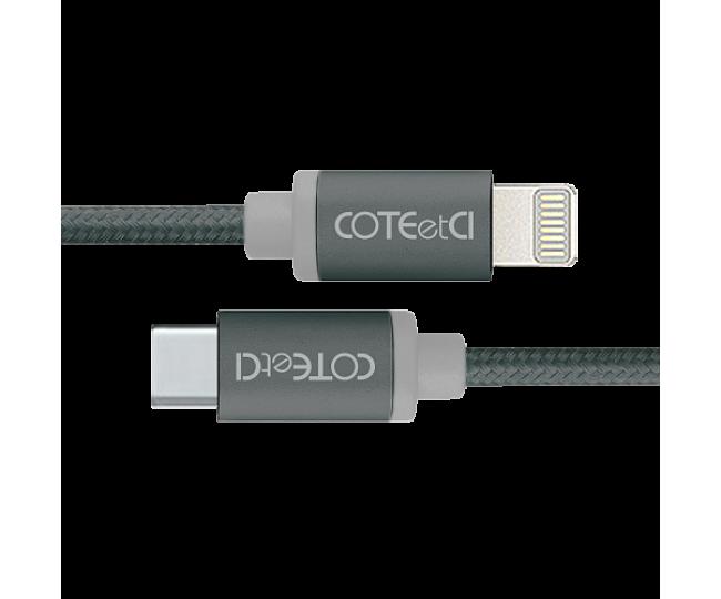 Кабель Lightning COTEetCI M38 Type-C to Lightning Cable 1.2m Black (CS2151-BK)