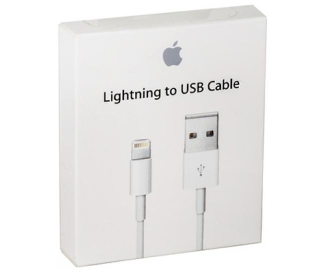 Оригинальная зарядка (зарядное устройство) USB кабель для Apple iPhone 5/5s/6/6s/6/6s Plus/7/7 Plus/8/8 Plus/X/XS/XS Max/11/11 Pro/11 Pro Max/iPad 4/Air/Air 2/Pro/Mini 2/3/4 (MD818/MQUE2)
