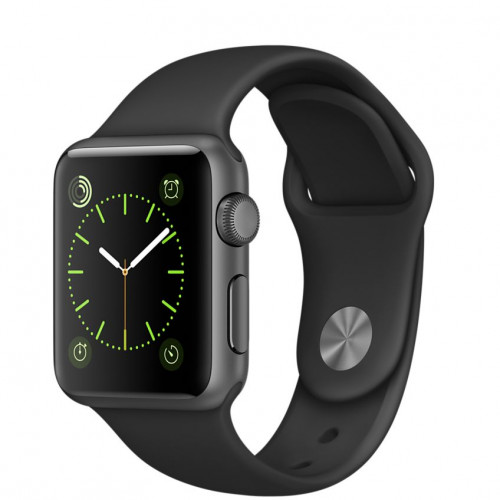 Apple Watch Series 1 42mm Space Gray Aluminum Case with Black Sport Band (MP032) Уценка