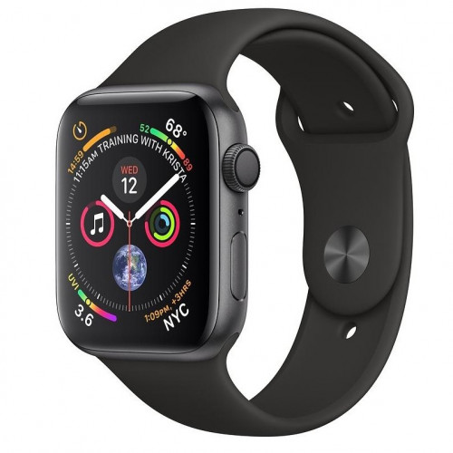 Apple Watch Series 4 GPS 44mm Space Gray Aluminum Case with Black Sport Band (MU6D2) б/у