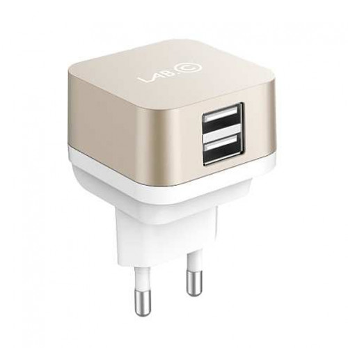 Сетевое з/у Lab.C X2 2 Port USB Wall (2.4A) Charger Gold (2.4A)