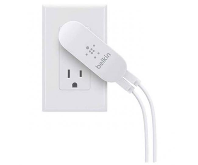 Сетевое зарядное устройство Belkin Dual USB HomeCharger 2xUSB x 2.1A (F8J107vfWHT)