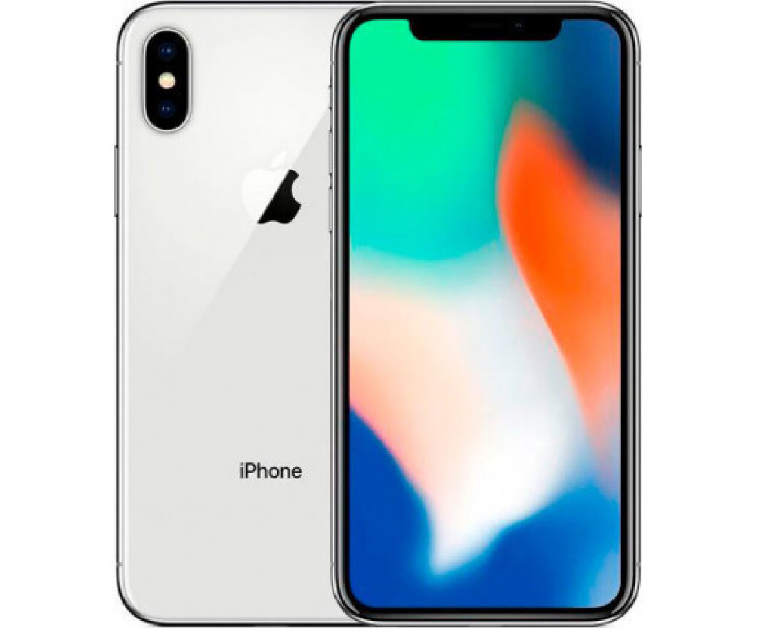 iPhone X 64gb, Silver б/у