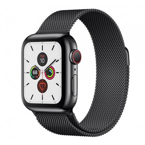 Apple Watch Series 5 (GPS + Cellular) 40mm SB Steel  Case with SB Milanese Loop (MWWX2)