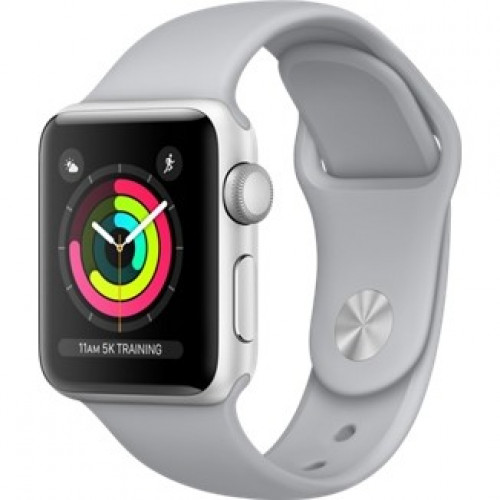 Apple Watch Series 3 38mm Silver Aluminum Case with Fog Sport Band (MQKU2) б/у