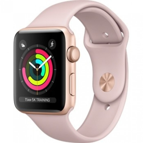 Apple Watch Series 3 42mm Gold Aluminum Case with Pink Sport Band (MQL22) б/у