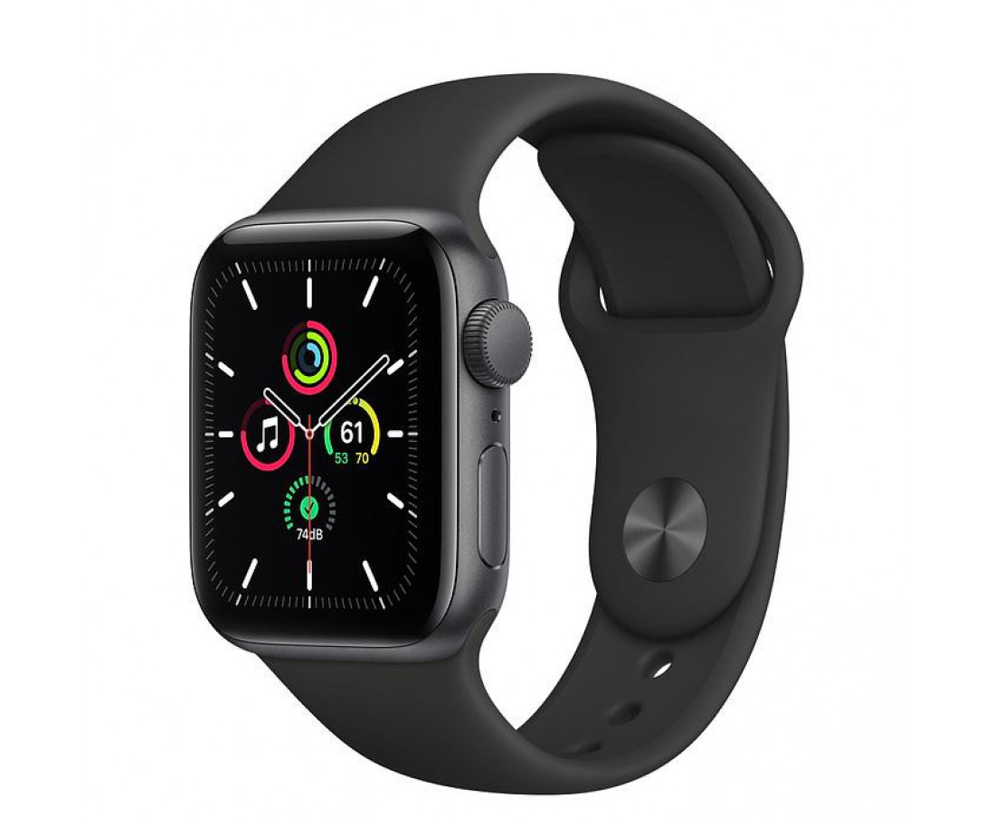 Apple Watch SE 40mm GPS Space Gray Aluminum Case w. Black Sport Band (MYDP2) б/у