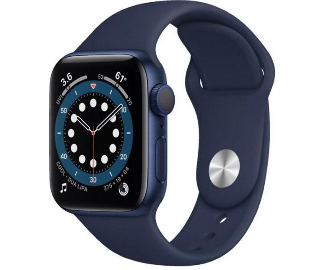 Apple Watch 6 40mm GPS Blue Aluminum Case w. Deep Navy Sport Band (MG143) б/у