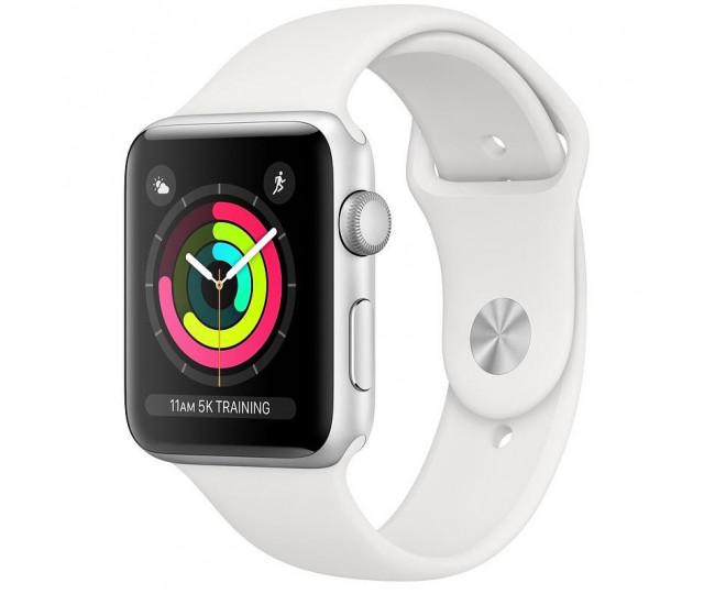 Apple Watch Series 3 GPS 38mm Silver Aluminium Case with White Sport Band (MTEY2) бу