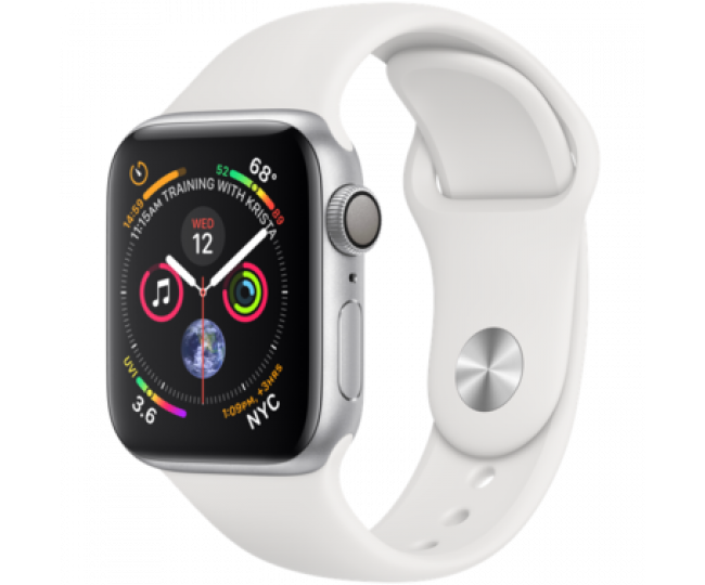Apple Watch Series 4 40mm Silver Aluminum Case with White Sport Band (MU642) б/у