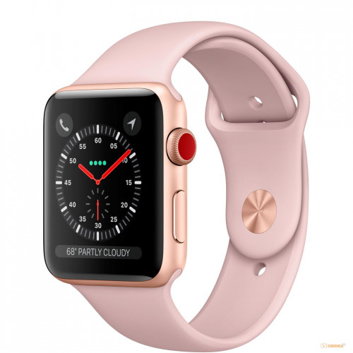 Apple Watch Series 3 38mm Gold Aluminum Case with Pink Sand Sport Band (MQJQ2) б/у
