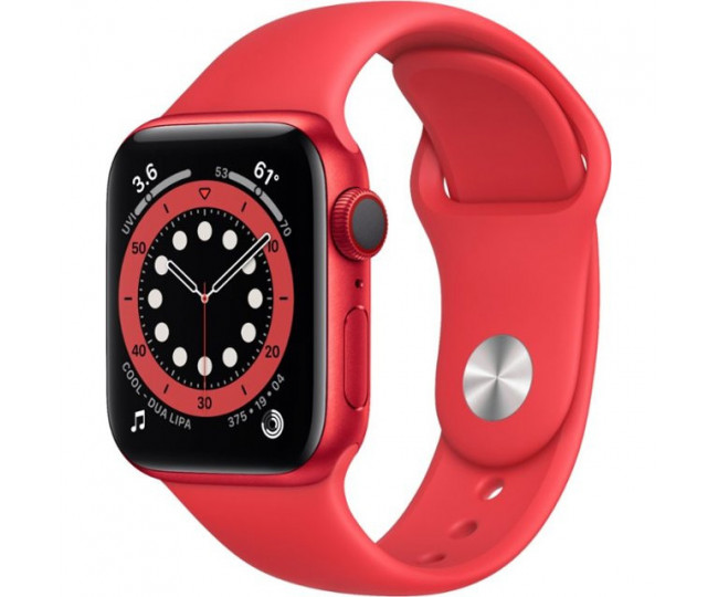 Apple Watch Series 6 GPS 40mm (GPS+LTE)(RED) Aluminium Case with RED Sport Band (M02T3, M06R3)