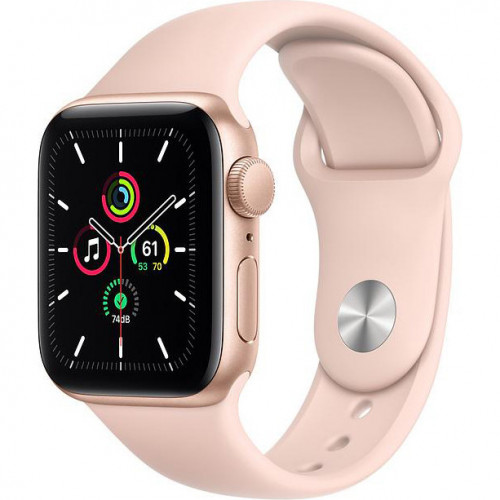 Apple Watch SE GPS 44mm Gold Aluminum Case w. Pink Sand Sport B. (MYDR2) UA