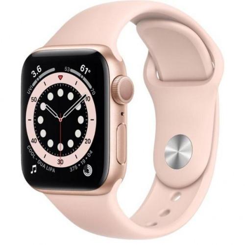 Apple Watch Series 6 GPS 40mm Gold Aluminum Case w. Pink Sand Sport B. (MG123) UA