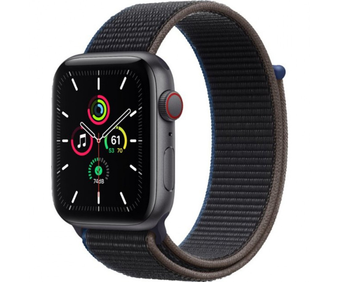 Apple Watch SE GPS + Cellular 44mm Space Gray Aluminum Case with Charcoal Sport L. (MYEU2)