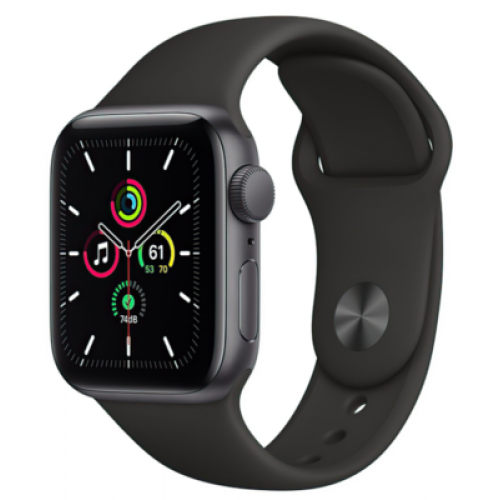 Apple Watch SE GPS + Cellular 40mm Space Gray Aluminum Case with Black Sport Band (MYED2 / MYEK2)