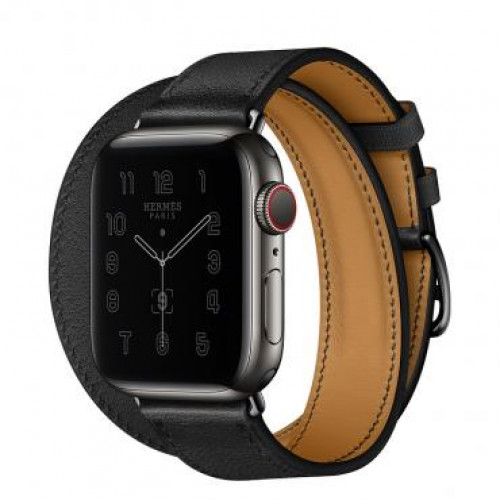 Apple Watch Hermes Series 6 40mm Space Black Stainless with Double Tour Black (MG3Q3)