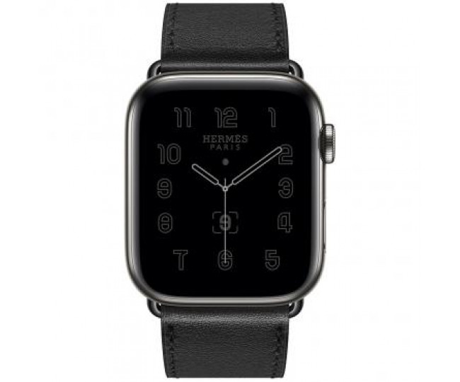 Apple Watch Hermes Series 6 44mm Space Black Stainless Steel with Single Tour Black ( MG3H3)