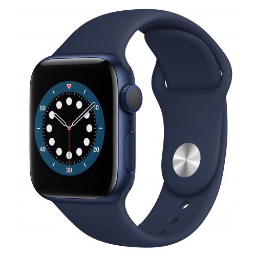 Apple Watch Series 6 40mm Blue Aluminum Case with Deep Navy Sport Band (MG143) UA