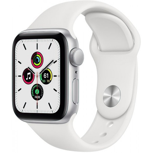 Apple Watch 6 40mm 4G Silver Stainless Steel Case with White Sport Band (M02U3, M06T3)