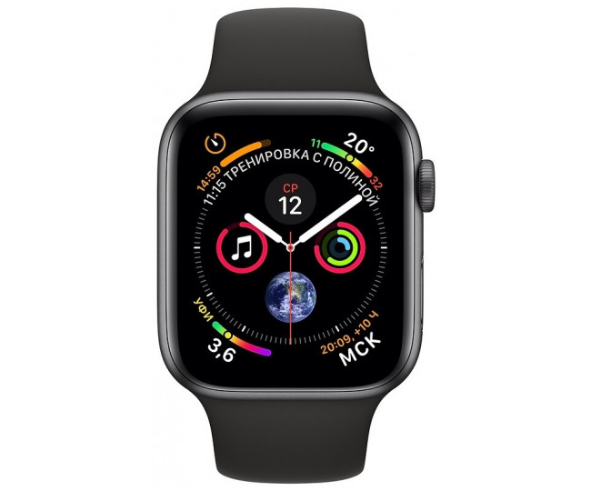 Apple Watch Series 4 GPS + LTE 40mm Gray Alum. w. Black Sport b. Gray Alum. (MTUG2, MTVD2) б/у