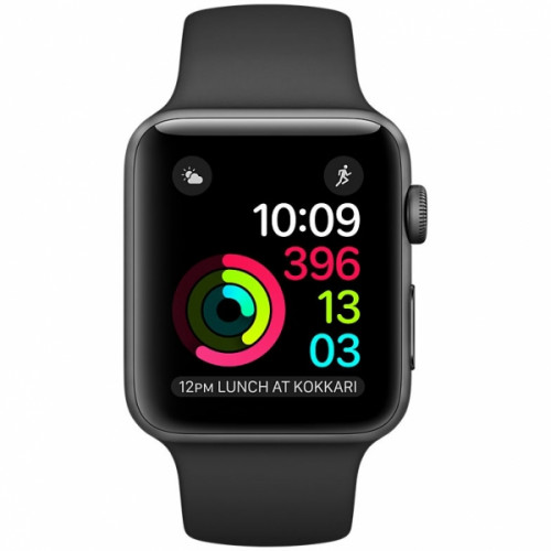 Apple Watch Series 2 42mm бу Space Gray Aluminum Case with Black Sport Band (MP062)