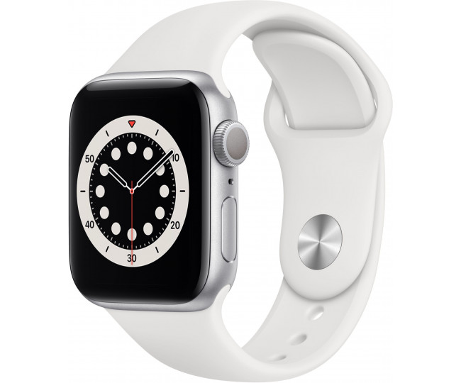 Apple Watch 6 40mm GPS Silver Aluminum Case w. White Sport Band (MG283) б/у