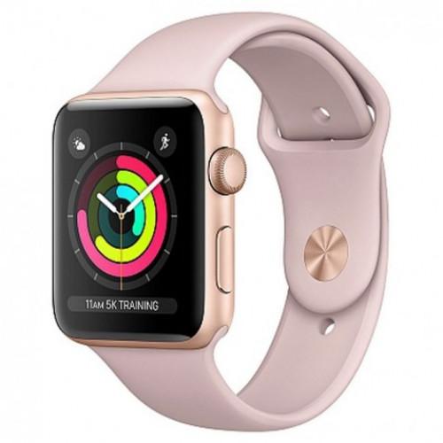 Apple Watch Series 3 GPS 38mm Gold Aluminum w. Pink Sand Sport B. - Gold (MQKW2) б/у