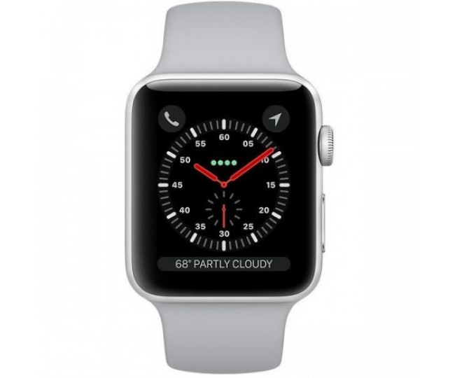 Apple Watch Series 3 42mm Silver Aluminum Case with Fog Sport Band (MQL02) б/у