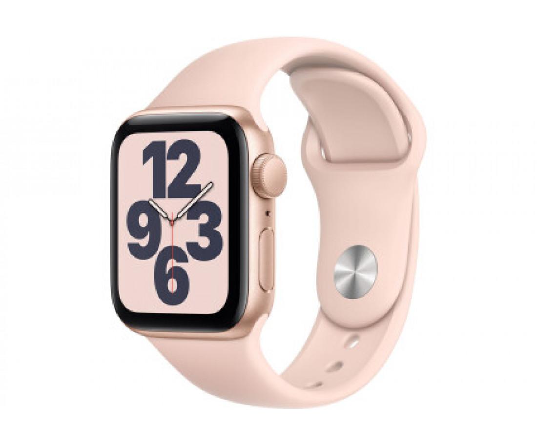 Apple Watch SE GPS 40mm Gold Aluminum Case with Pink Sand Sport Band - Regular MYDN2