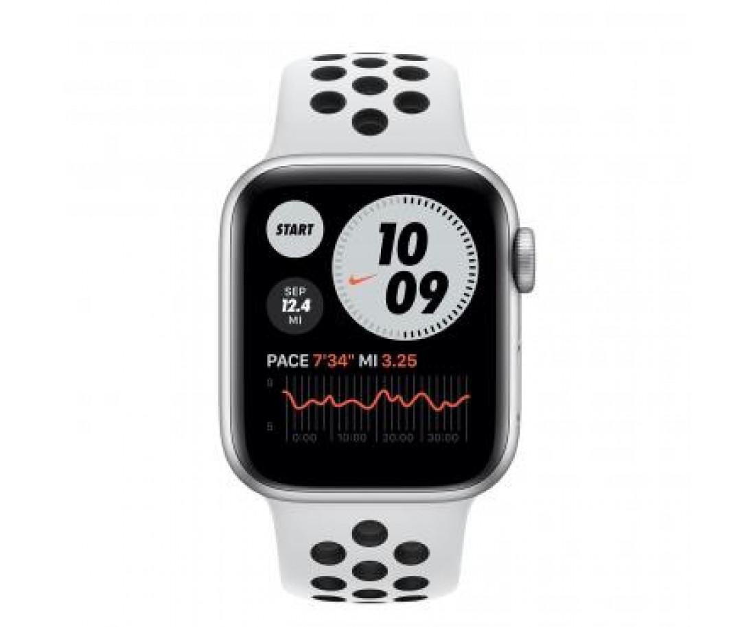 Apple Watch Nike+ Series 6 GPS + LTE 40mm Silver Aluminium Pure Platinum/Black Nike (M06J3 / M07C3)