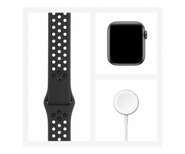 Apple Watch Nike Series 6 LTE  44mm Aluminum Case with Anthracite/Black Nike Sport Band - SG MG2J3