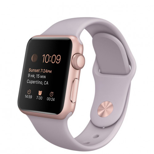 Apple Watch 38mm Rose Gold Aluminum Case with Lavender Sport Band (MLCH2) б/у