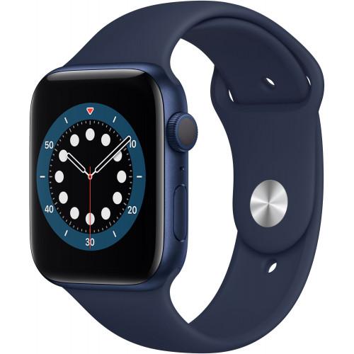 Apple Watch Series 6 44mm Blue Aluminum Case with Deep Navy Sport Band (M00J3) UA