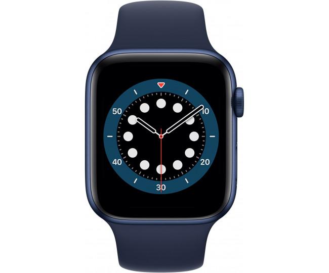 Apple Watch Series 6 GPS 44mm Blue Aluminum Case w. Deep Navy Sport B. (M00J3) б/у