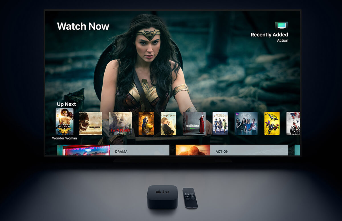 Apple TV 4K контент