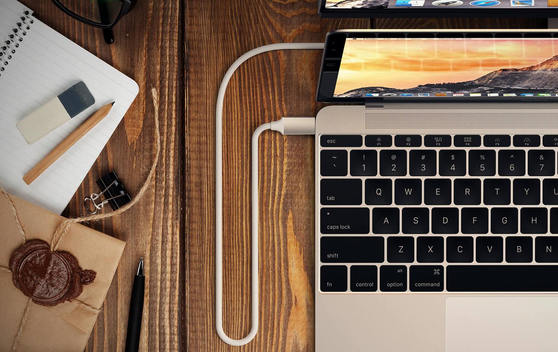 Satechi Type-C to 4K HDMI Cable в MacBook