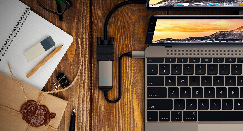 Satechi Type-C VGA Adapter в MacBook